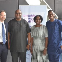 (L-R) Mr Judah Levine, CEO HIPConsult, Mr. Saidu Abdullahi, Head, NBU Partnerships SSA, Google Nigeria, Ms. Funke Opeke, CEO MainOne and Engr. Gbenga Adebay, Chairman ALTON