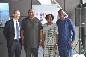 (L-R) Mr Judah Levine, CEO HIPConsult, Mr. Saidu Abdullahi, Head, NBU Partnerships SSA, Google Nigeria, Ms. Funke Opeke, CEO MainOne and Engr. Gbenga Adebay, Chairman ALTON
