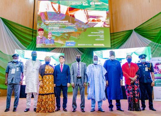 Digitization Hangout with the Digital Transformation Technical Working Groups (DTTWGs) organized by the National Information Technology Development Agency (NITDA)