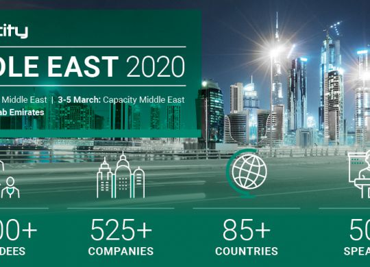 Capacity Middle East is the largest event connecting MENA regionally and internationally.